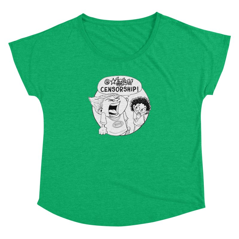 BARRY WEEN (POLITE) by JUDD WINICK Women's Dolman Scoop Neck by COMIC BOOK LEGAL DEFENSE FUND