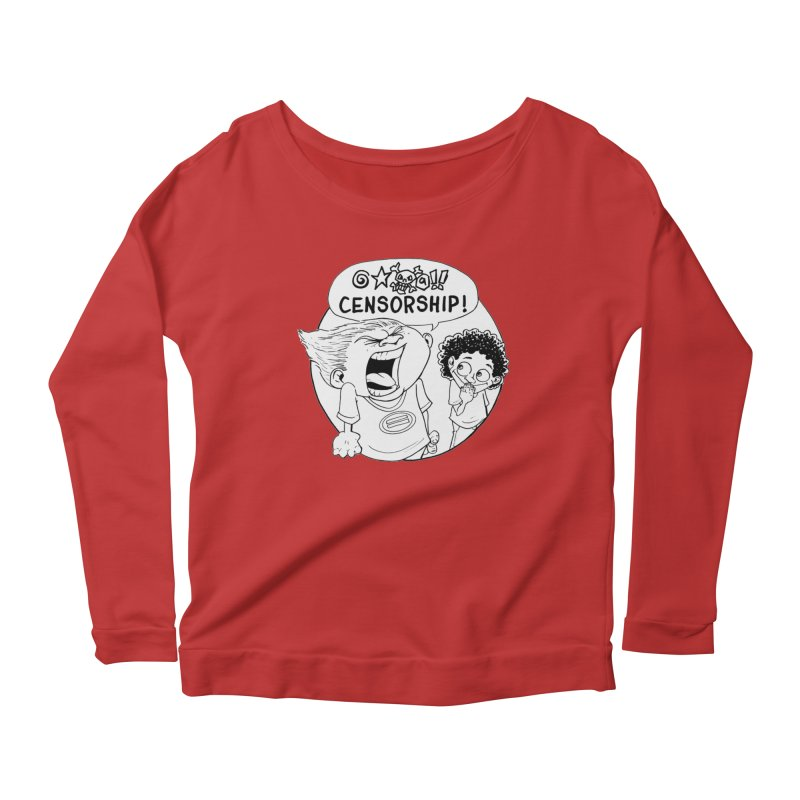 BARRY WEEN (POLITE) by JUDD WINICK Women's Scoop Neck Longsleeve T-Shirt by COMIC BOOK LEGAL DEFENSE FUND