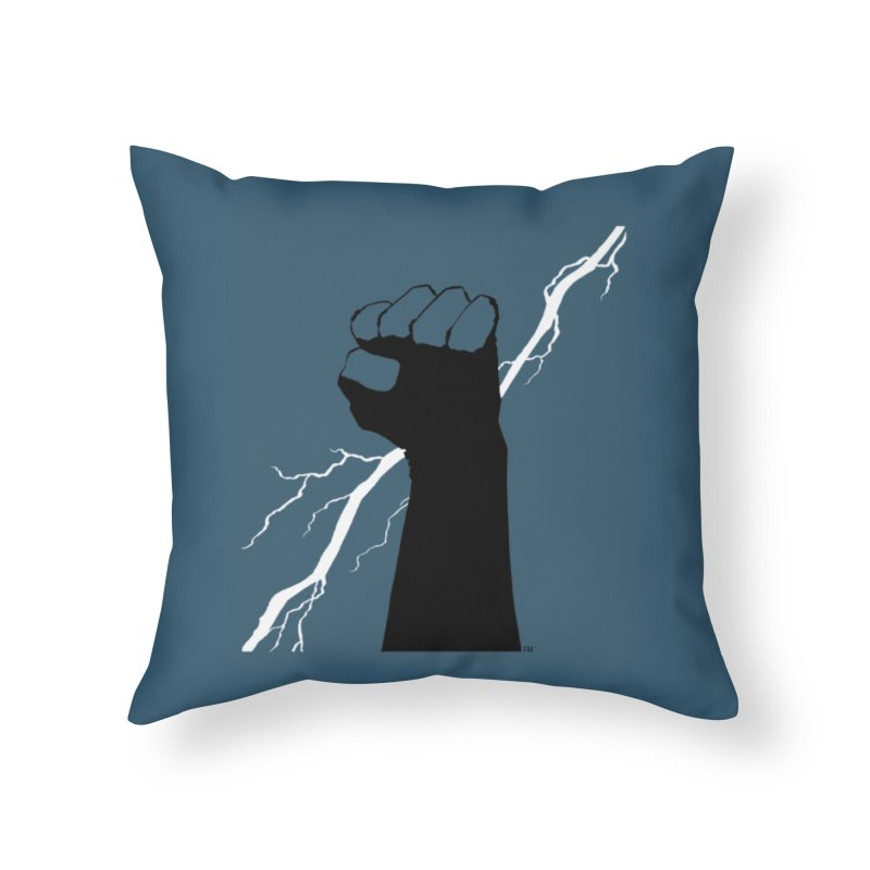DEFIANT FIST by FRANK MILLER Home Throw Pillow by COMIC BOOK LEGAL DEFENSE FUND