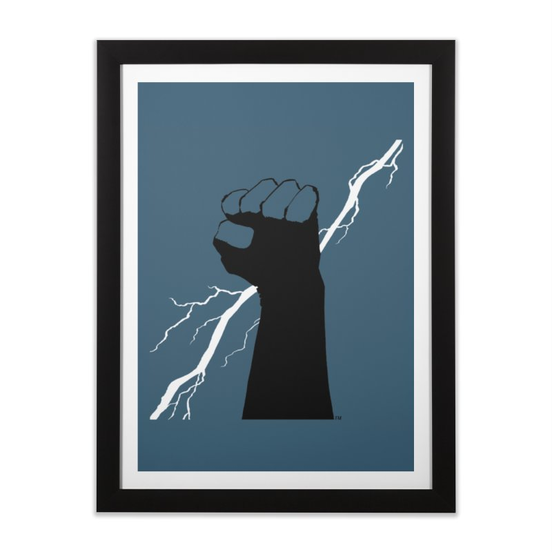 DEFIANT FIST by FRANK MILLER Home Framed Fine Art Print by COMIC BOOK LEGAL DEFENSE FUND