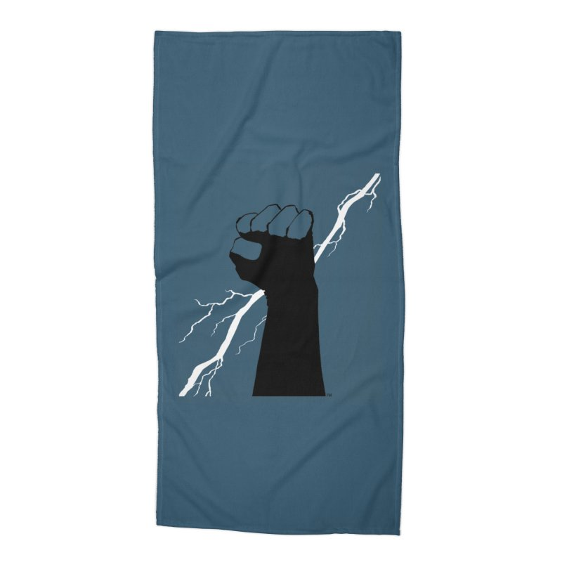 DEFIANT FIST by FRANK MILLER Accessories Beach Towel by COMIC BOOK LEGAL DEFENSE FUND