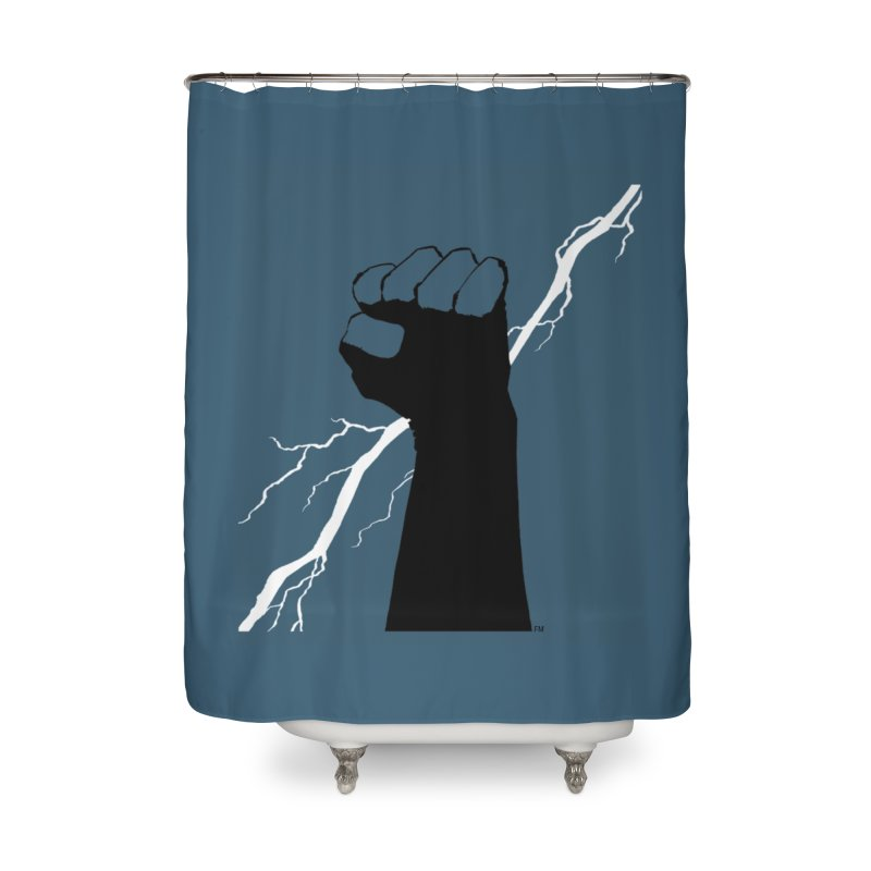 DEFIANT FIST by FRANK MILLER Home Shower Curtain by COMIC BOOK LEGAL DEFENSE FUND