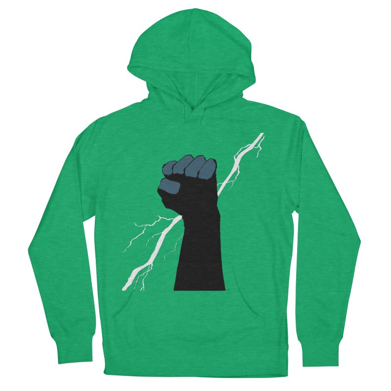 DEFIANT FIST by FRANK MILLER Women's French Terry Pullover Hoody by COMIC BOOK LEGAL DEFENSE FUND