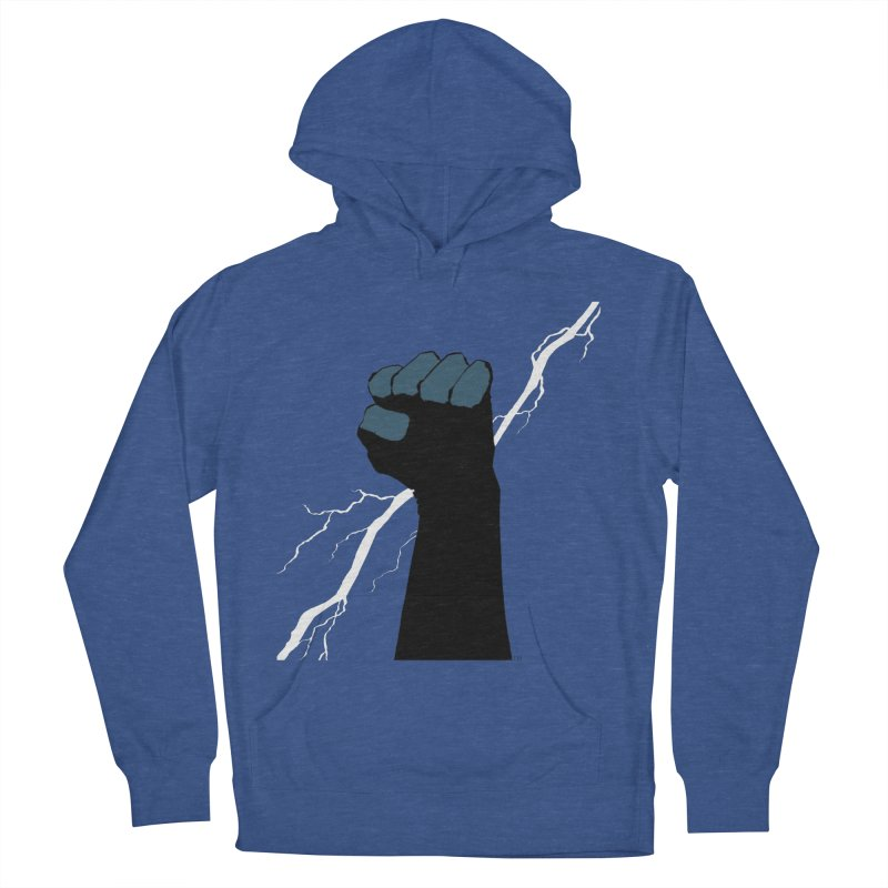 DEFIANT FIST by FRANK MILLER Men's French Terry Pullover Hoody by COMIC BOOK LEGAL DEFENSE FUND