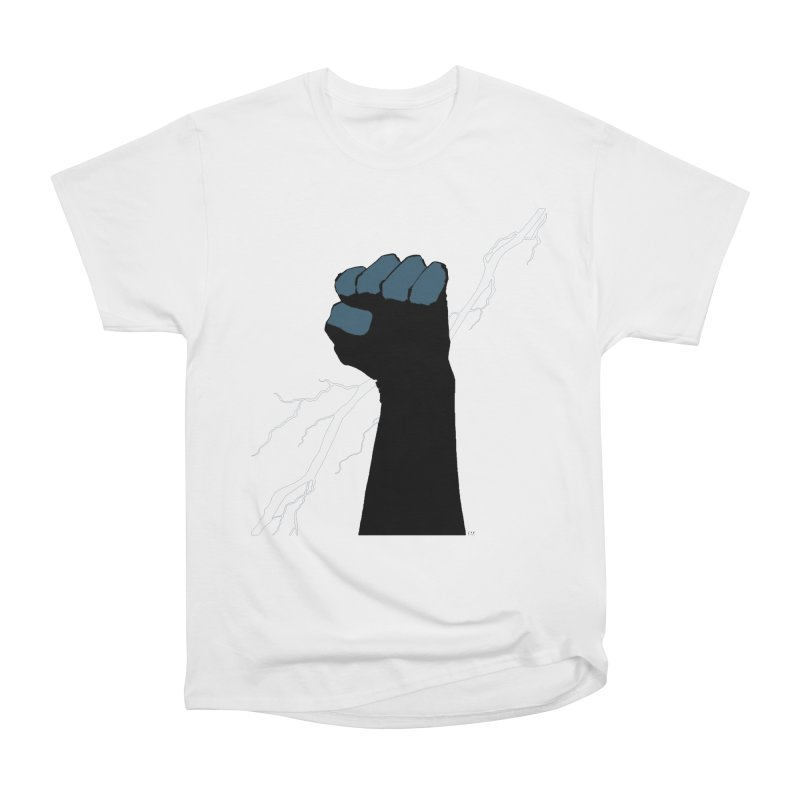 DEFIANT FIST by FRANK MILLER Men's Heavyweight T-Shirt by COMIC BOOK LEGAL DEFENSE FUND
