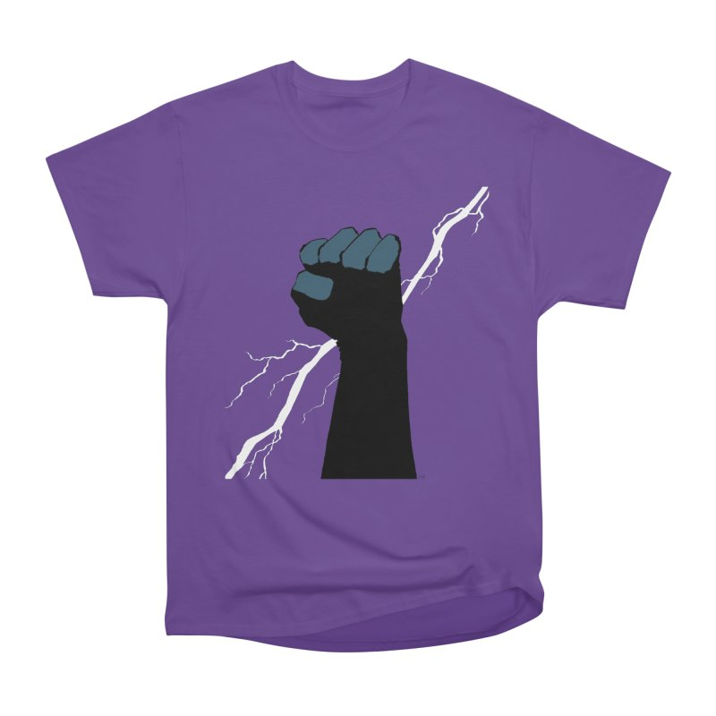 DEFIANT FIST by FRANK MILLER Women's Heavyweight Unisex T-Shirt by COMIC BOOK LEGAL DEFENSE FUND