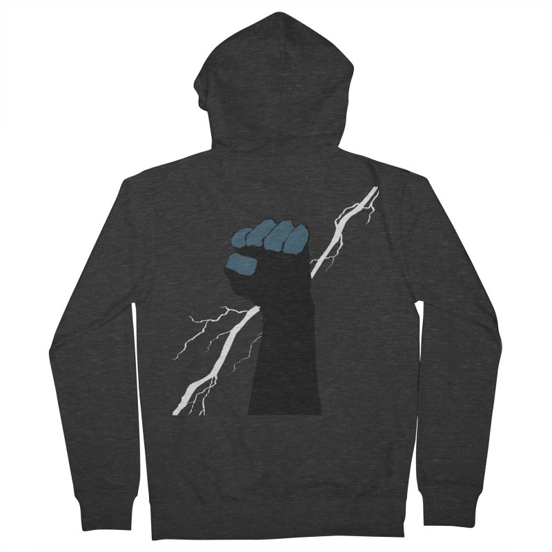 DEFIANT FIST by FRANK MILLER Women's French Terry Zip-Up Hoody by COMIC BOOK LEGAL DEFENSE FUND