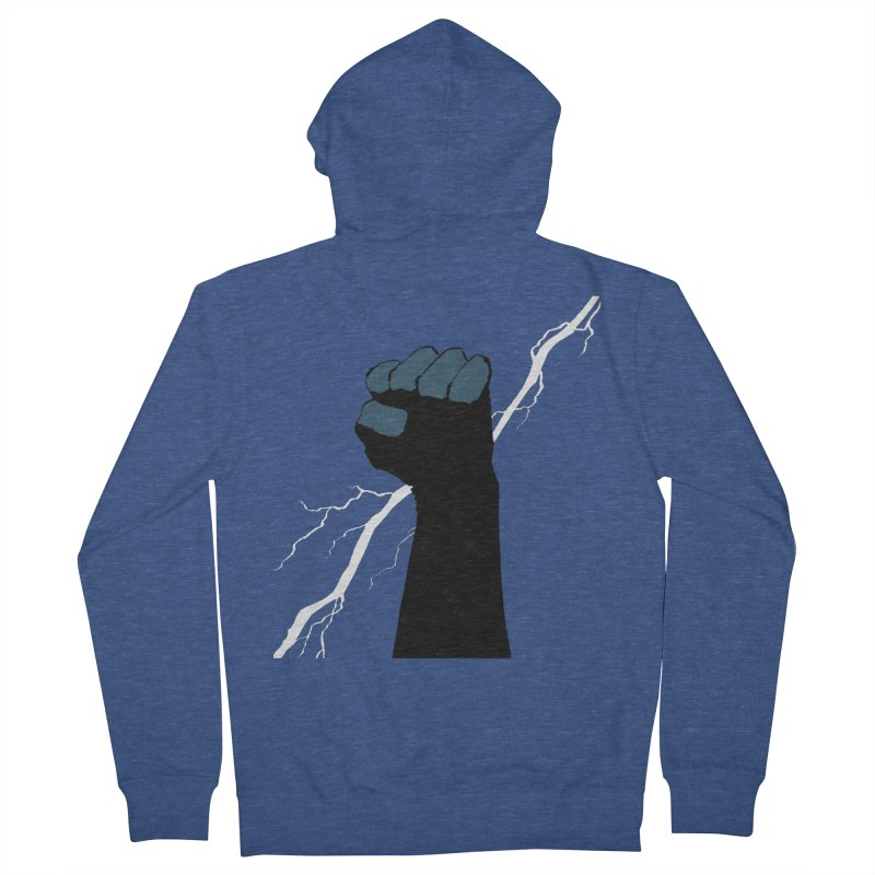 DEFIANT FIST by FRANK MILLER Men's French Terry Zip-Up Hoody by COMIC BOOK LEGAL DEFENSE FUND