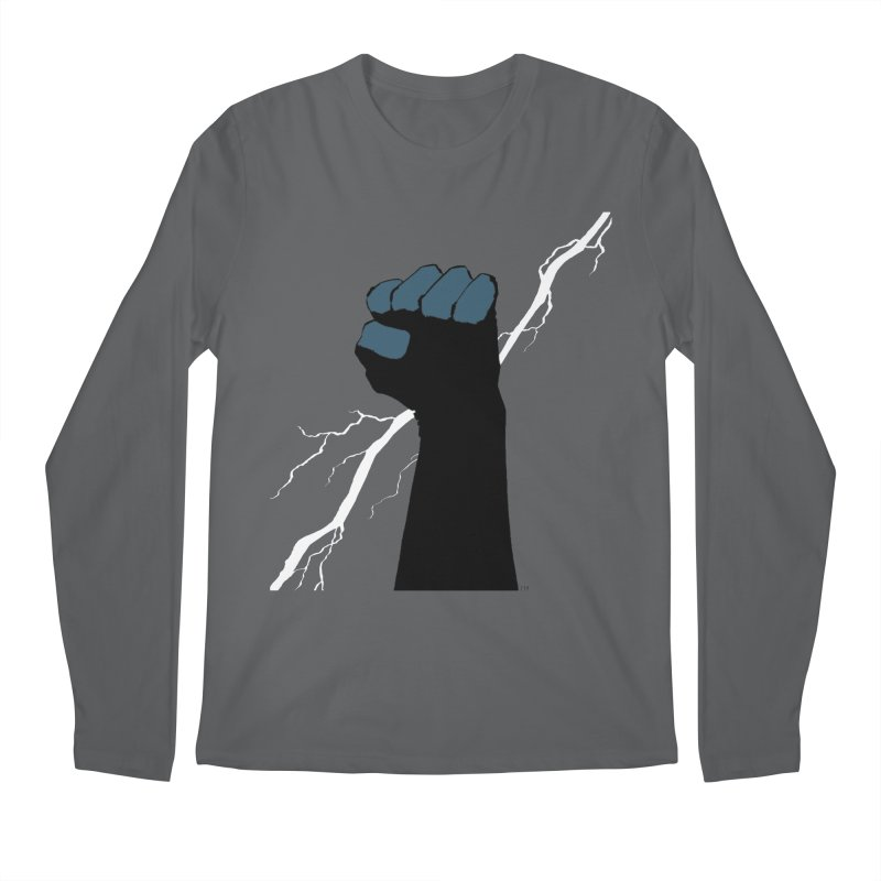 DEFIANT FIST by FRANK MILLER Men's Regular Longsleeve T-Shirt by COMIC BOOK LEGAL DEFENSE FUND