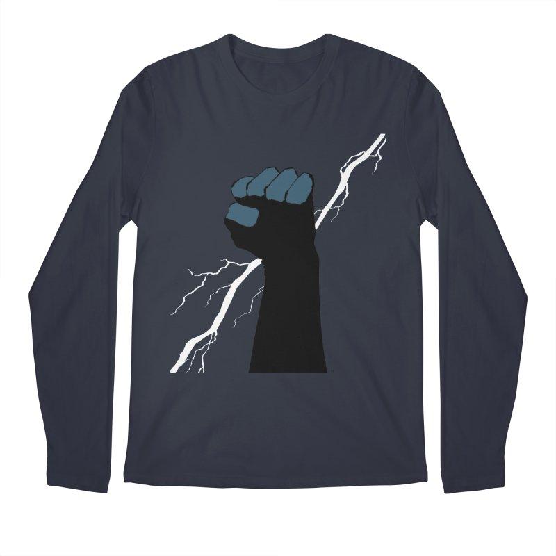 DEFIANT FIST by FRANK MILLER Men's Regular Longsleeve T-Shirt by COMIC BOOK LEGAL DEFENSE FUND