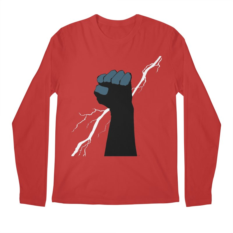 DEFIANT FIST by FRANK MILLER Men's Longsleeve T-Shirt by COMIC BOOK LEGAL DEFENSE FUND