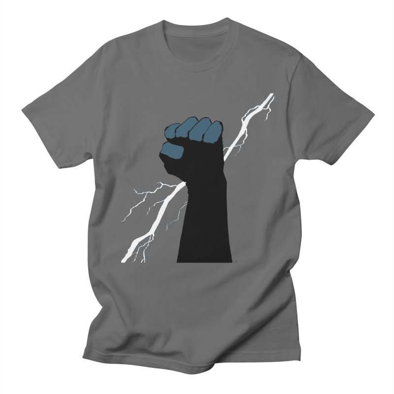 DEFIANT FIST by FRANK MILLER Men's T-Shirt by COMIC BOOK LEGAL DEFENSE FUND