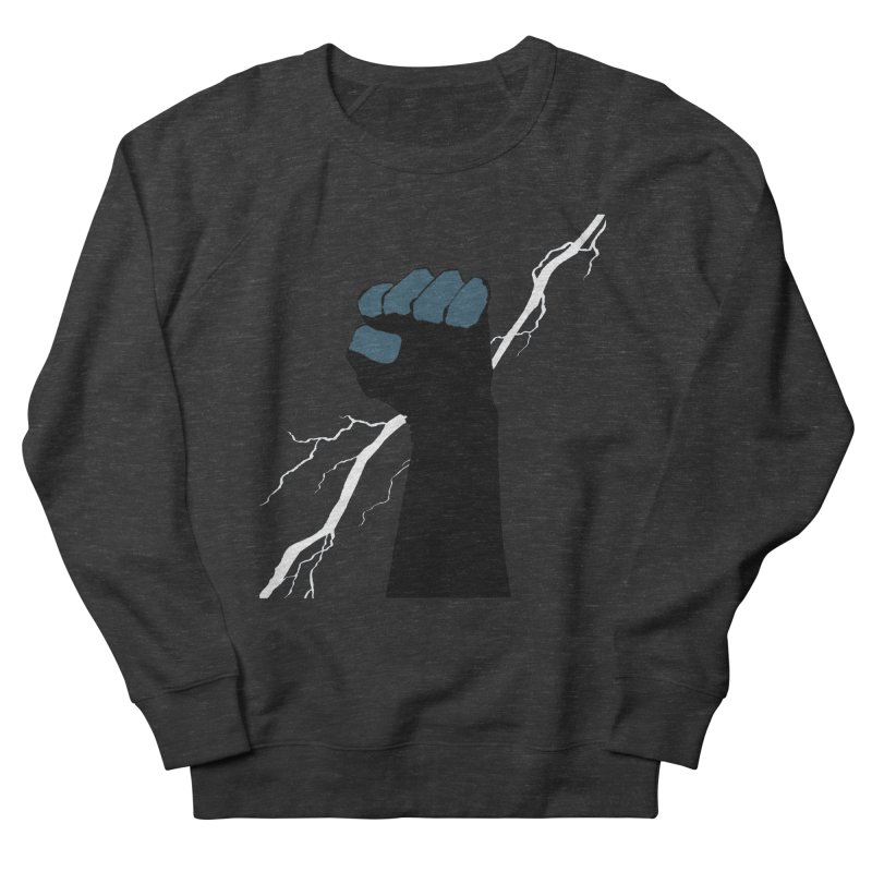 DEFIANT FIST by FRANK MILLER Women's French Terry Sweatshirt by COMIC BOOK LEGAL DEFENSE FUND