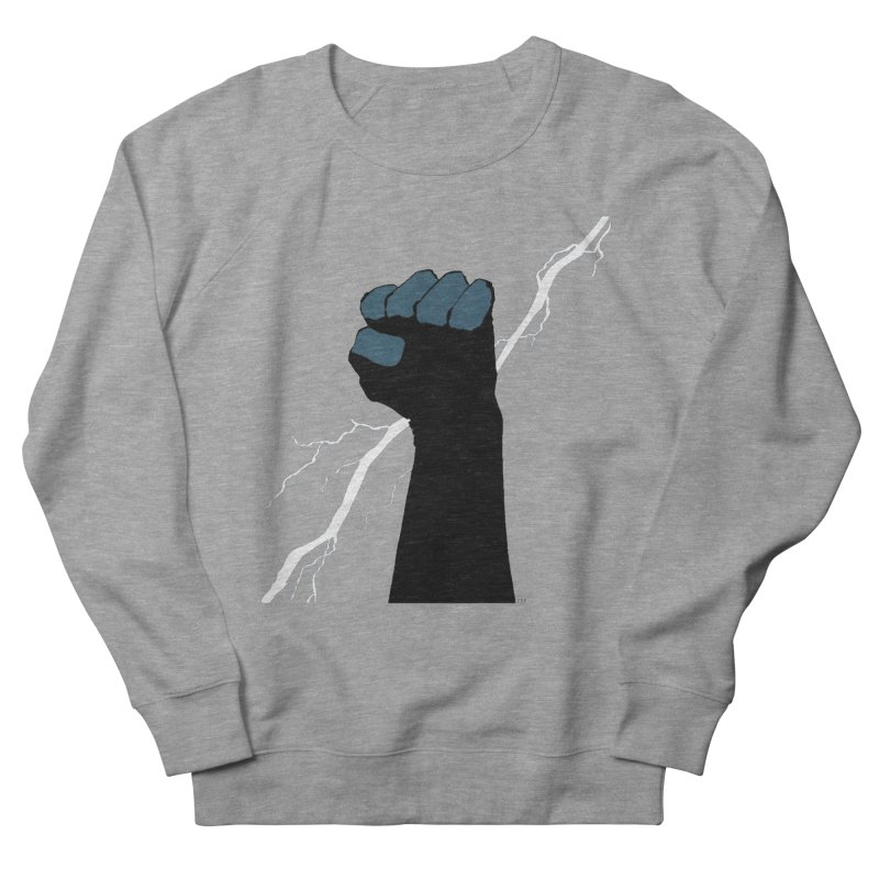 DEFIANT FIST by FRANK MILLER Men's French Terry Sweatshirt by COMIC BOOK LEGAL DEFENSE FUND