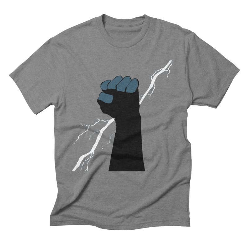 DEFIANT FIST by FRANK MILLER Men's Triblend T-Shirt by COMIC BOOK LEGAL DEFENSE FUND