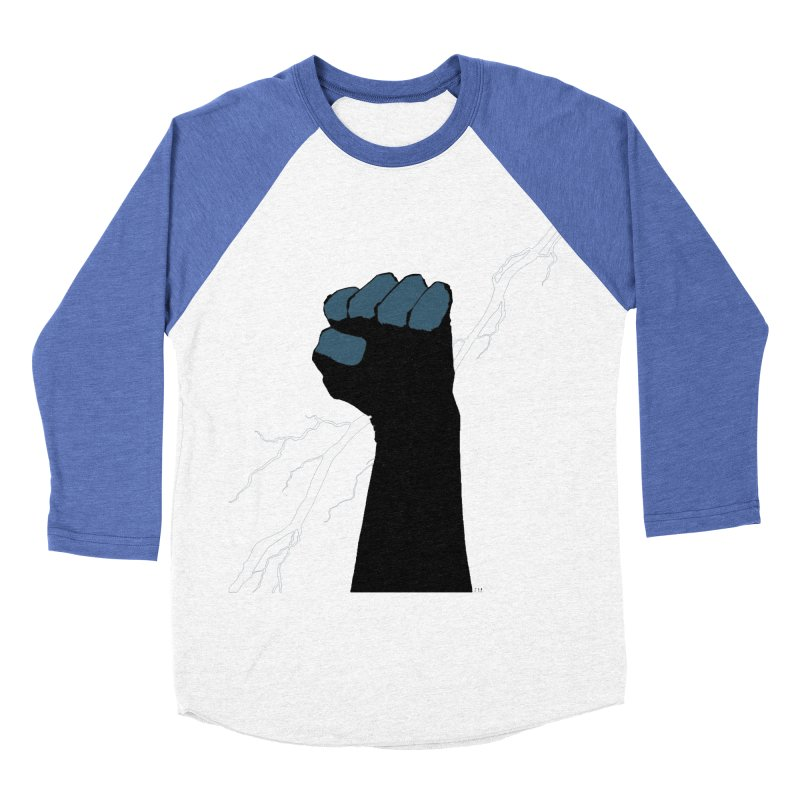 DEFIANT FIST by FRANK MILLER Women's Baseball Triblend Longsleeve T-Shirt by COMIC BOOK LEGAL DEFENSE FUND