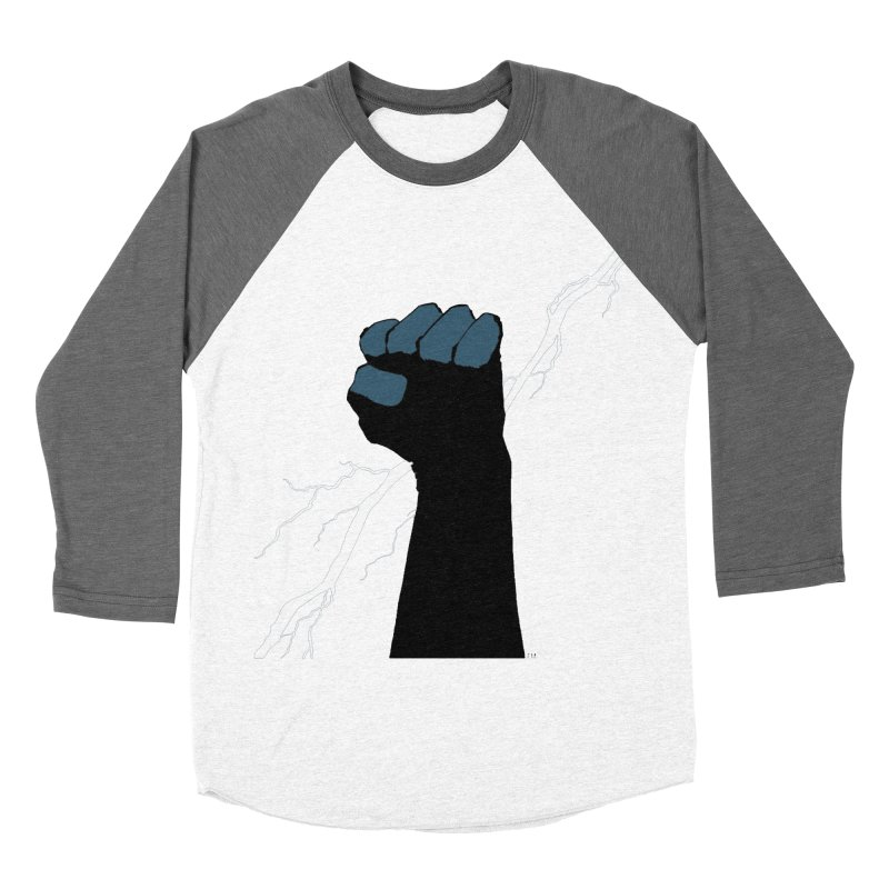 DEFIANT FIST by FRANK MILLER Men's Baseball Triblend Longsleeve T-Shirt by COMIC BOOK LEGAL DEFENSE FUND