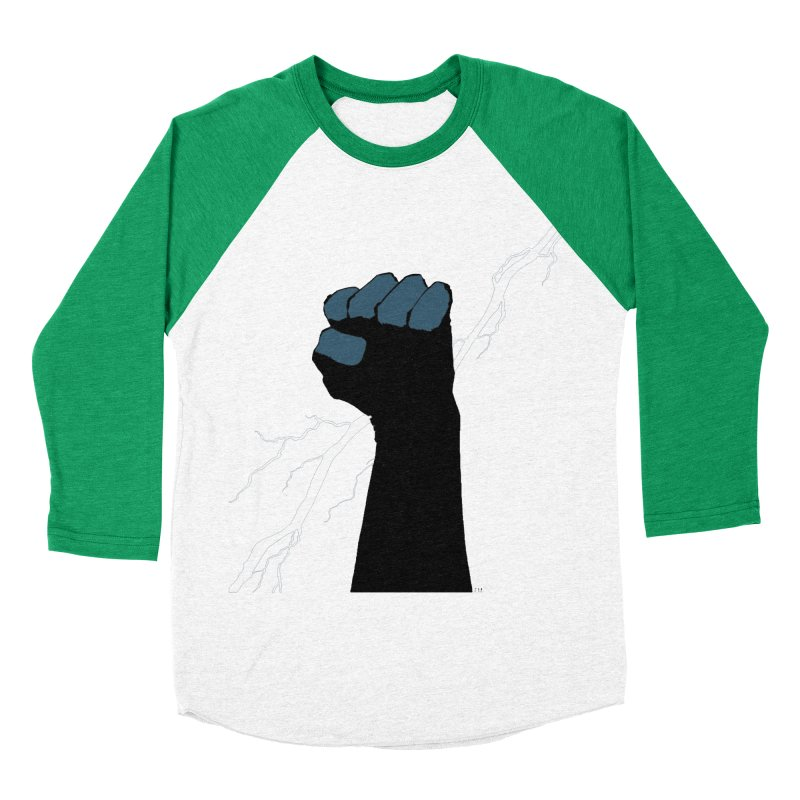 DEFIANT FIST by FRANK MILLER Men's Baseball Triblend Longsleeve T-Shirt by COMIC BOOK LEGAL DEFENSE FUND