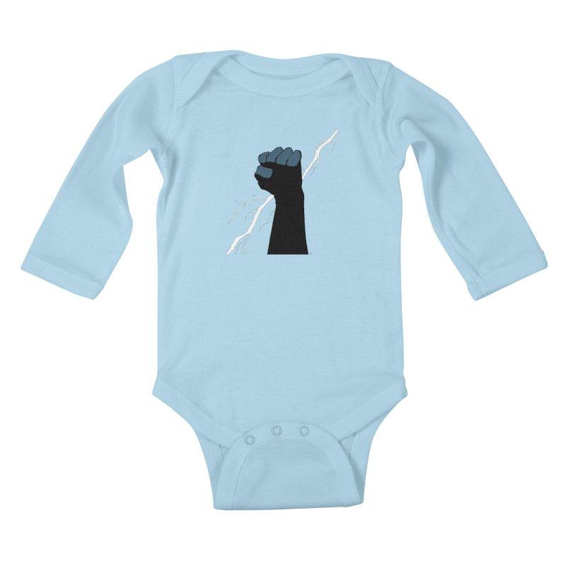 DEFIANT FIST by FRANK MILLER Kids Baby Longsleeve Bodysuit by COMIC BOOK LEGAL DEFENSE FUND
