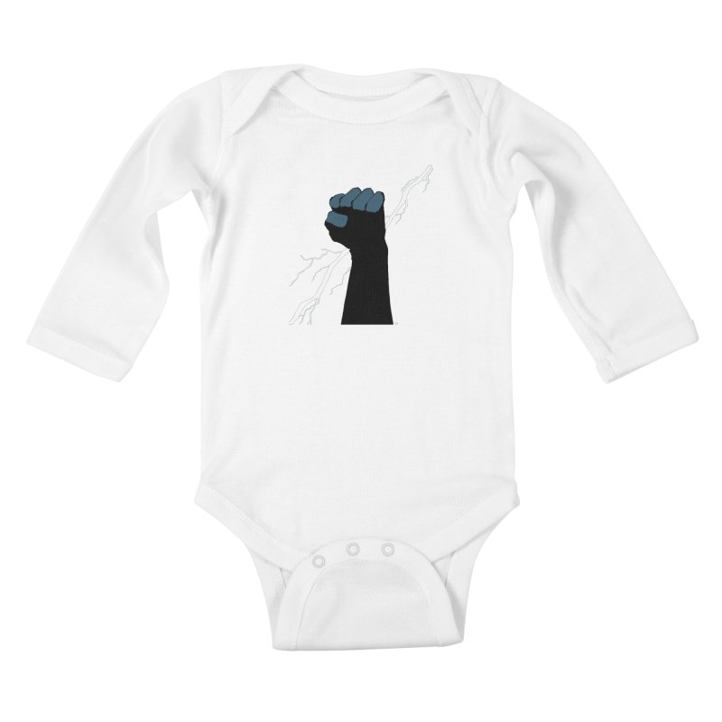 DEFIANT FIST by FRANK MILLER Kids Baby Longsleeve Bodysuit by COMIC BOOK LEGAL DEFENSE FUND