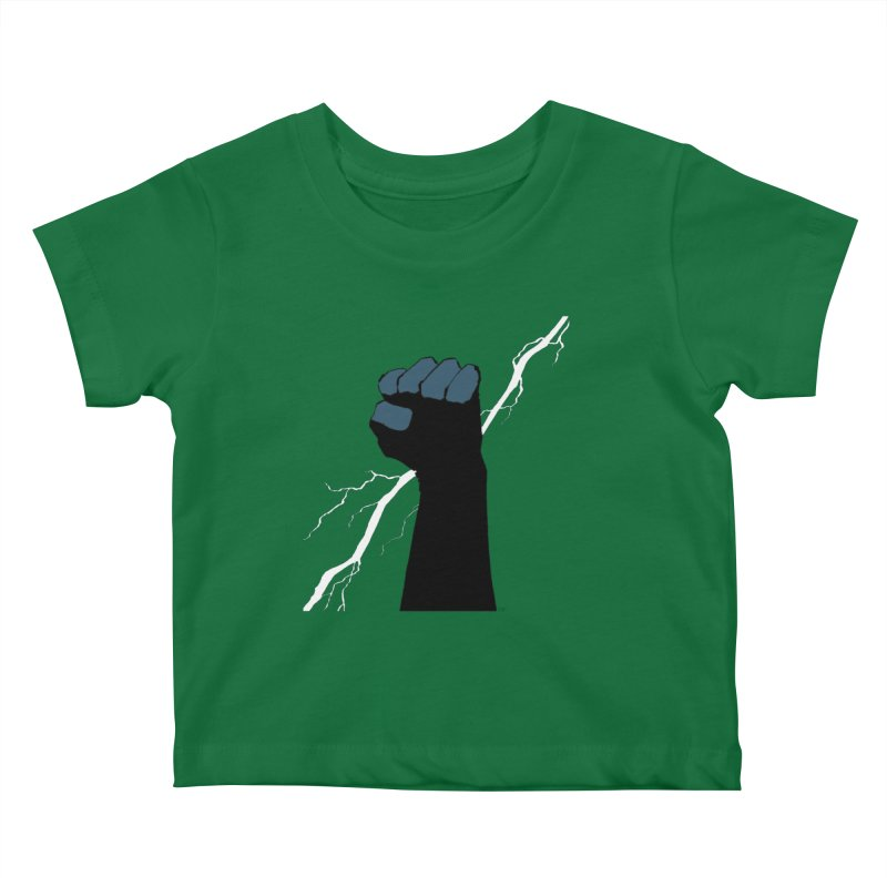 DEFIANT FIST by FRANK MILLER Kids Baby T-Shirt by COMIC BOOK LEGAL DEFENSE FUND
