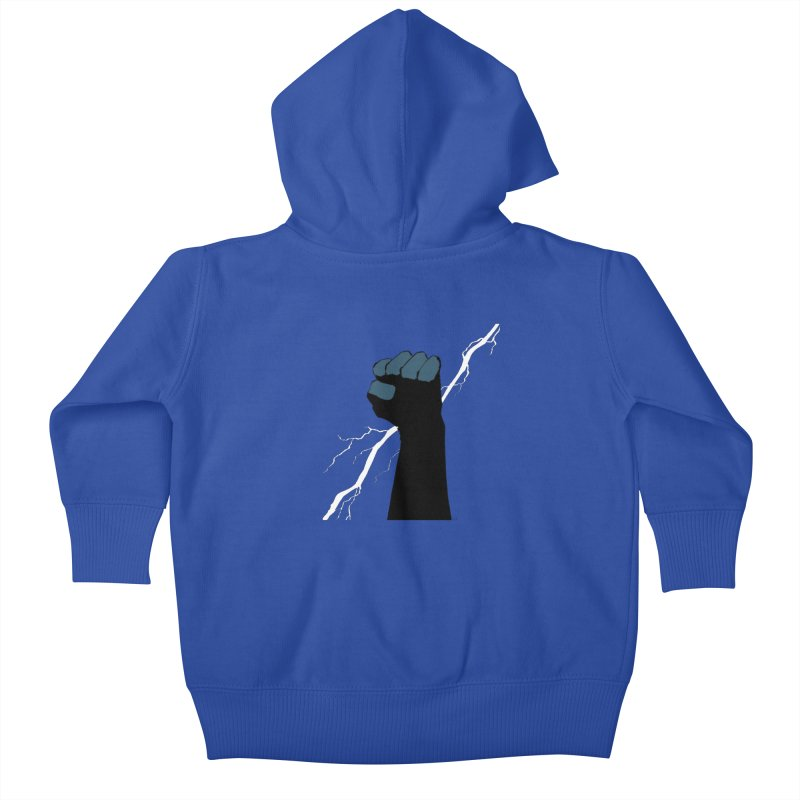 DEFIANT FIST by FRANK MILLER Kids Baby Zip-Up Hoody by COMIC BOOK LEGAL DEFENSE FUND