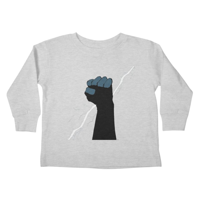 DEFIANT FIST by FRANK MILLER Kids Toddler Longsleeve T-Shirt by COMIC BOOK LEGAL DEFENSE FUND
