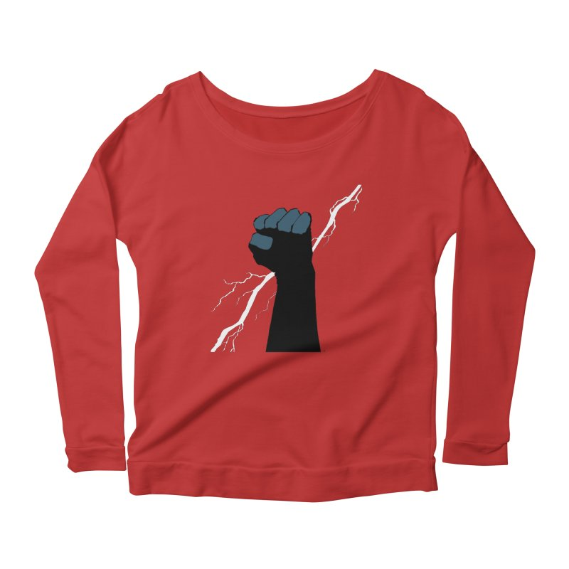 DEFIANT FIST by FRANK MILLER Women's Scoop Neck Longsleeve T-Shirt by COMIC BOOK LEGAL DEFENSE FUND