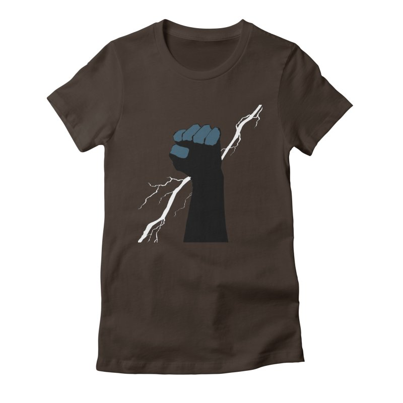 DEFIANT FIST by FRANK MILLER Women's Fitted T-Shirt by COMIC BOOK LEGAL DEFENSE FUND