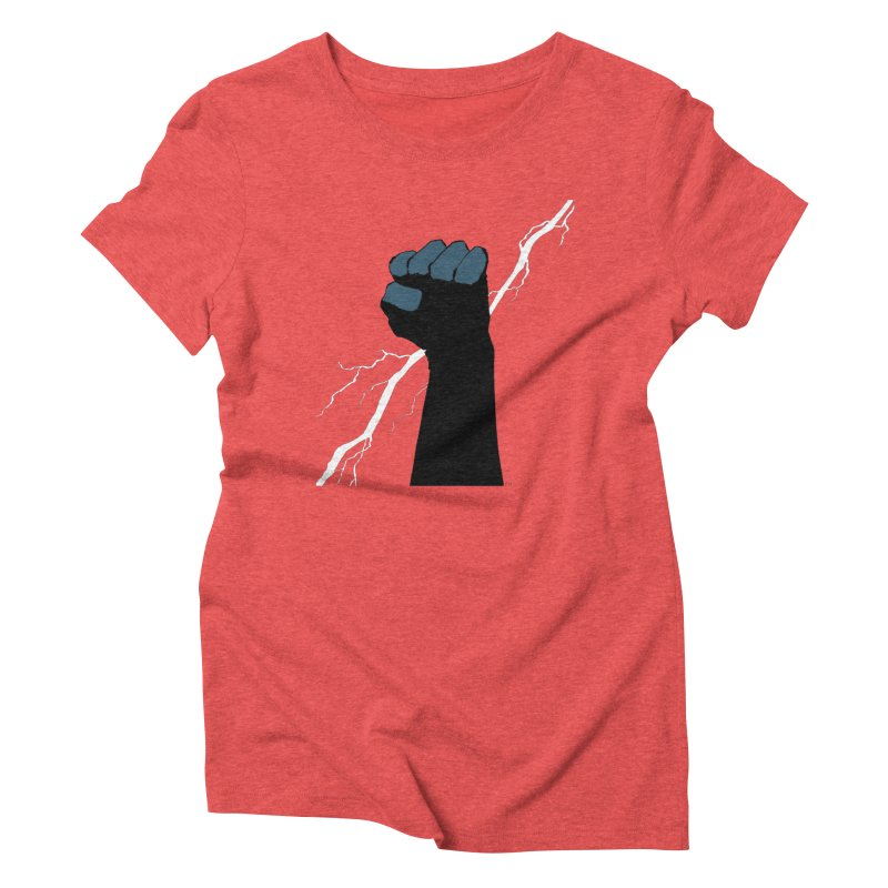 DEFIANT FIST by FRANK MILLER Women's Triblend T-Shirt by COMIC BOOK LEGAL DEFENSE FUND