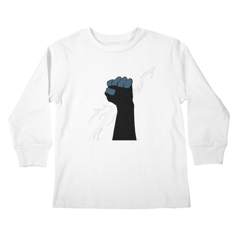 DEFIANT FIST by FRANK MILLER Kids Longsleeve T-Shirt by COMIC BOOK LEGAL DEFENSE FUND