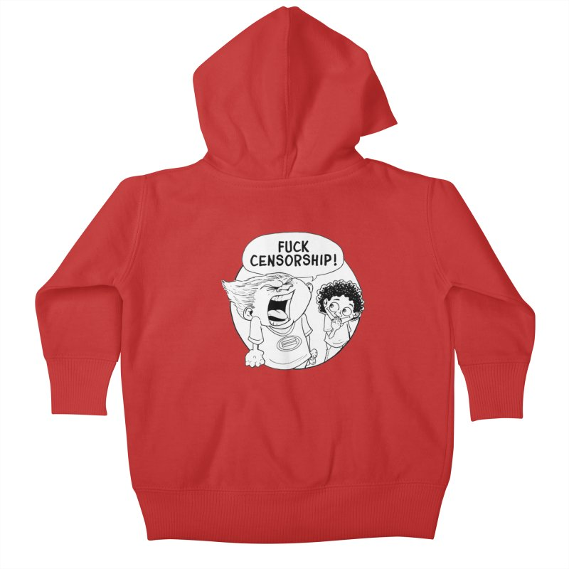 BARRY WEEN (IMPOLITE) by JUDD WINICK Kids Baby Zip-Up Hoody by COMIC BOOK LEGAL DEFENSE FUND
