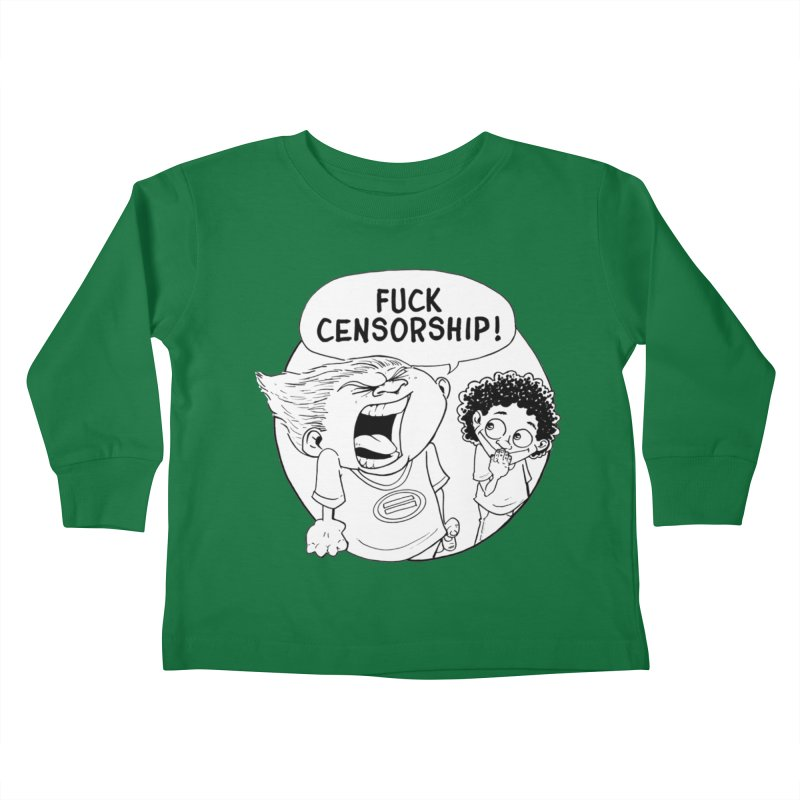 BARRY WEEN (IMPOLITE) by JUDD WINICK Kids Toddler Longsleeve T-Shirt by COMIC BOOK LEGAL DEFENSE FUND