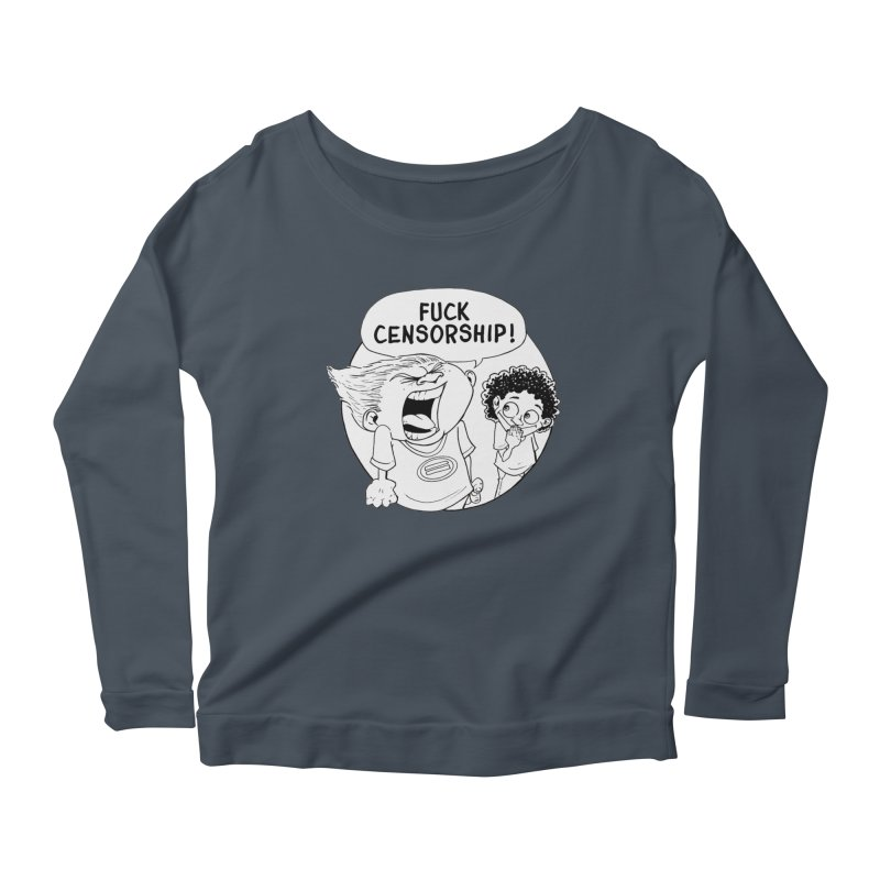 BARRY WEEN (IMPOLITE) by JUDD WINICK Women's Scoop Neck Longsleeve T-Shirt by COMIC BOOK LEGAL DEFENSE FUND