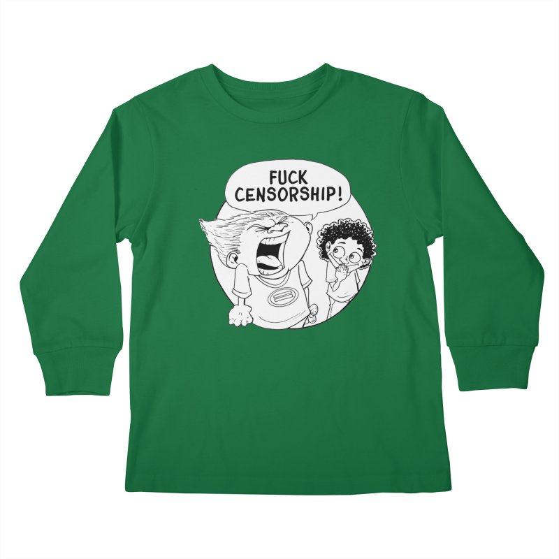 BARRY WEEN (IMPOLITE) by JUDD WINICK Kids Longsleeve T-Shirt by COMIC BOOK LEGAL DEFENSE FUND