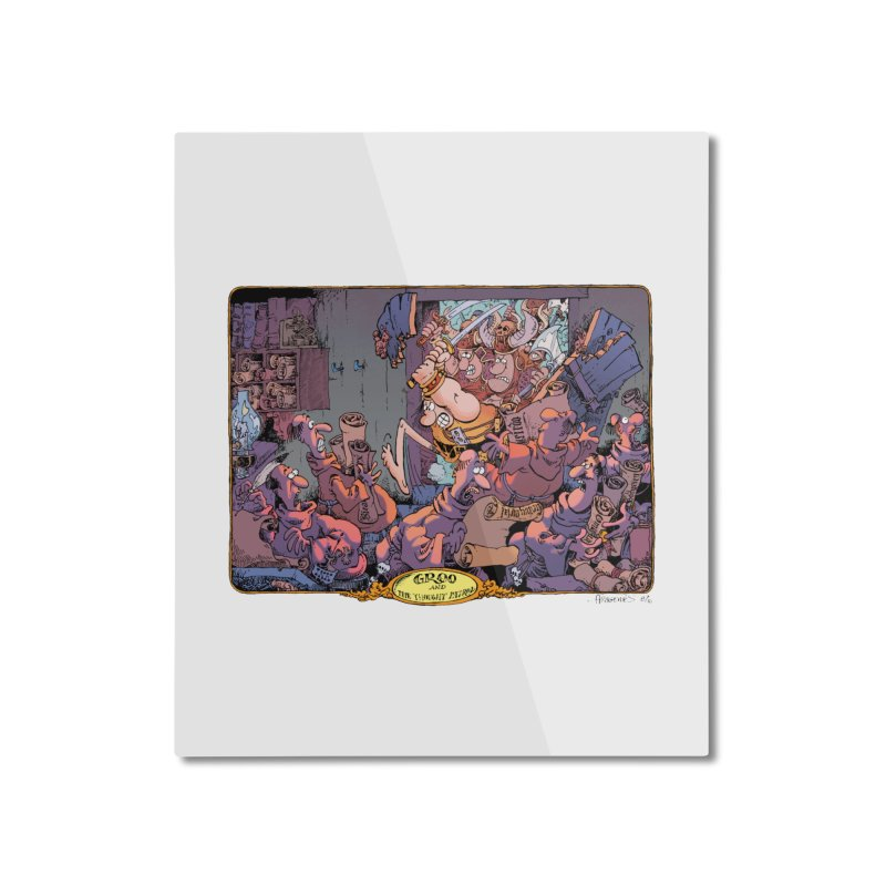 GROO! Home Mounted Aluminum Print by COMIC BOOK LEGAL DEFENSE FUND