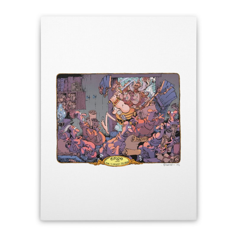 GROO! Home Stretched Canvas by COMIC BOOK LEGAL DEFENSE FUND
