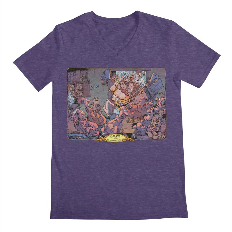 GROO! Men's Regular V-Neck by COMIC BOOK LEGAL DEFENSE FUND
