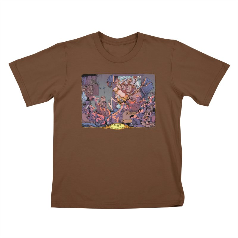 GROO! Kids T-Shirt by COMIC BOOK LEGAL DEFENSE FUND