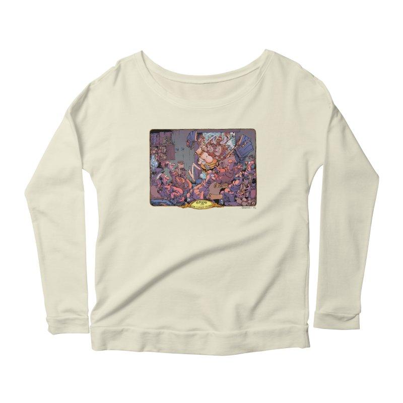 GROO! Women's Scoop Neck Longsleeve T-Shirt by COMIC BOOK LEGAL DEFENSE FUND