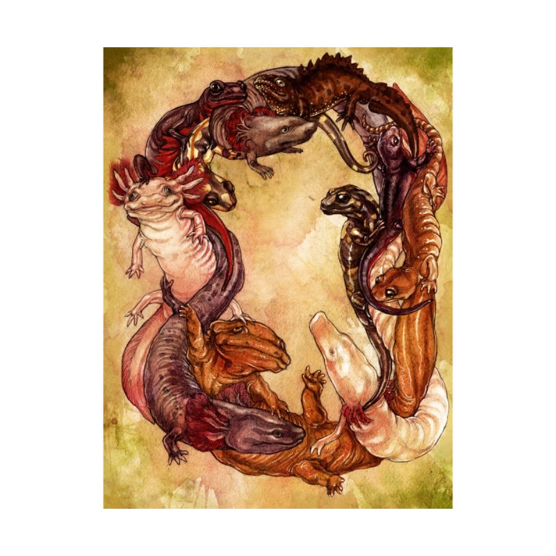 Salamander Wreath Print by SPIDERHOUSE