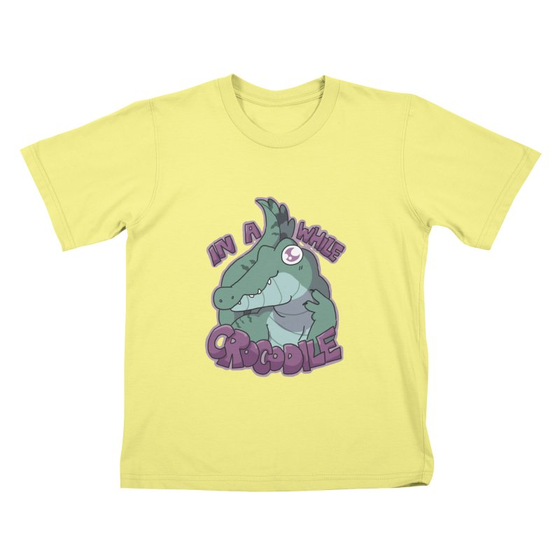 In A While Crododile Kids T-shirt by C.C. Art's Shop