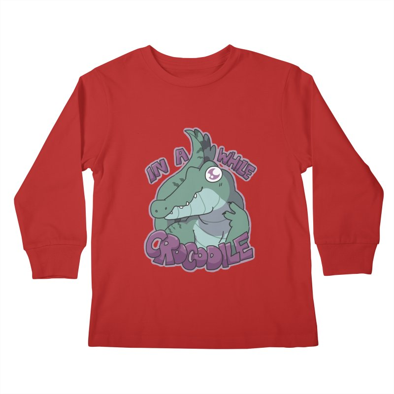 In A While Crododile Kids Longsleeve T-Shirt by C.C. Art's Shop