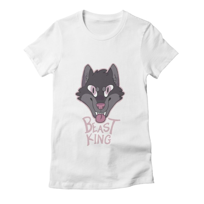 Beast King Women's Fitted T-Shirt by C.C. Art's Shop