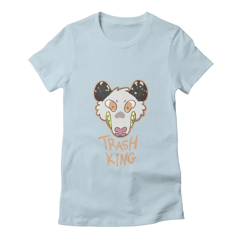 Trash King Women's Fitted T-Shirt by C.C. Art's Shop