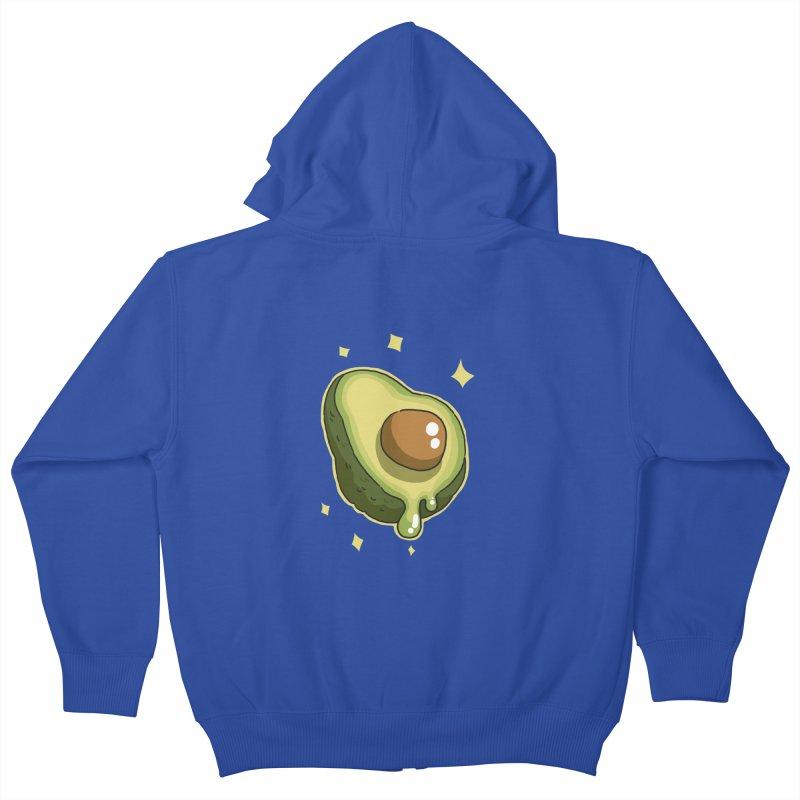 Avocado Kids Zip-Up Hoody by C.C. Art's Shop