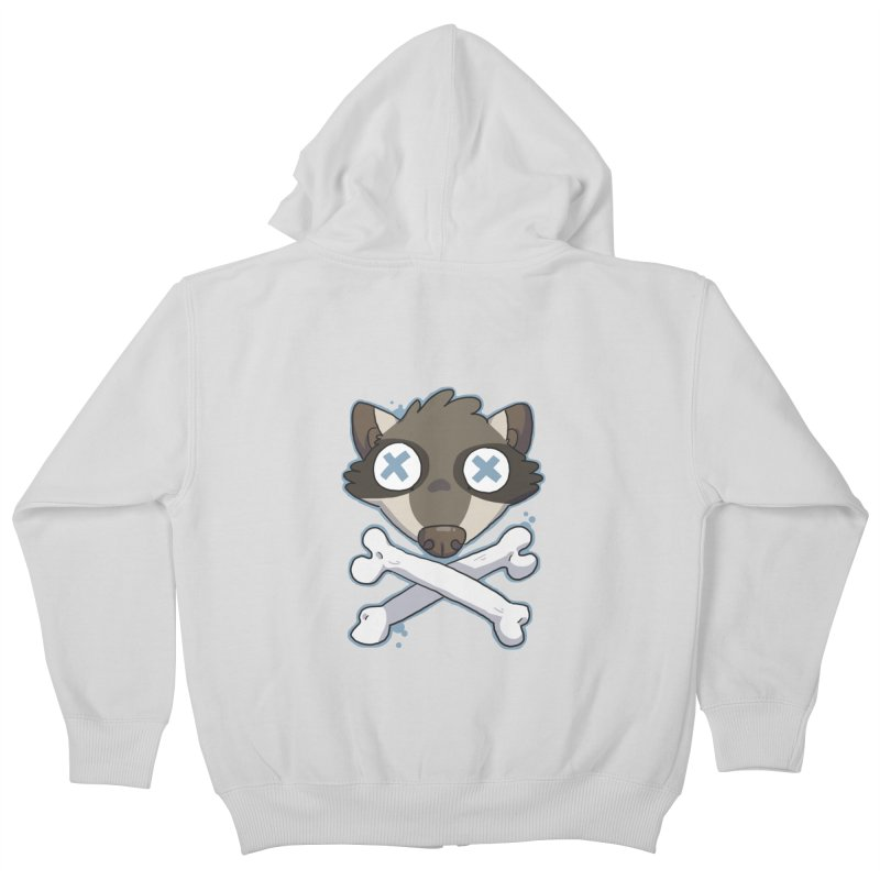 Junk & Crossbones Kids Zip-Up Hoody by C.C. Art's Shop