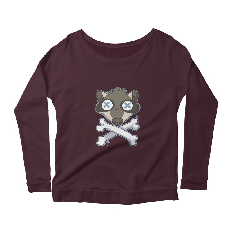 Junk & Crossbones Women's Longsleeve Scoopneck  by C.C. Art's Shop