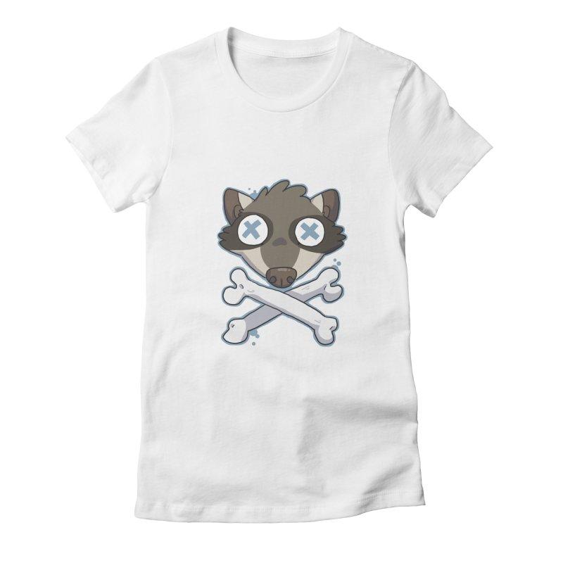 Junk & Crossbones Women's Fitted T-Shirt by C.C. Art's Shop