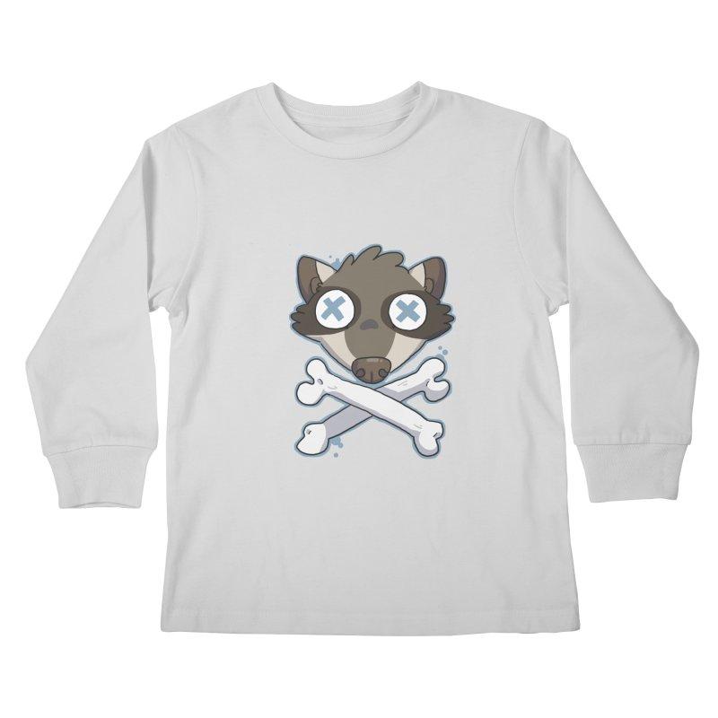 Junk & Crossbones Kids Longsleeve T-Shirt by C.C. Art's Shop